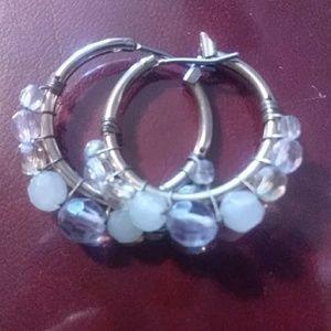 1980s Crystal Earrings